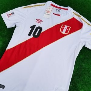 c9a3689b7 Umbro Shirts - 2018 Peru soccer jersey Farfán